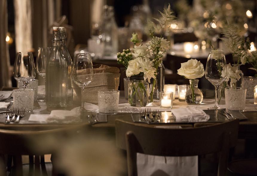 dettagli apparecchiatura tavoli matrimonio