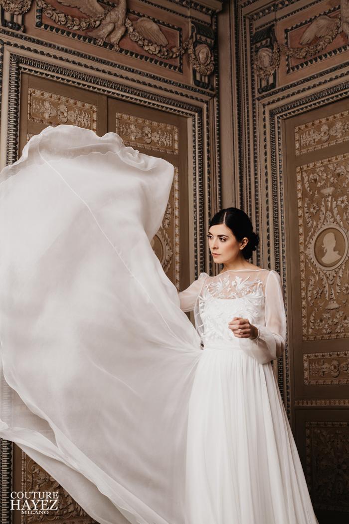 abito sposa luxury, abito da sposa collezione alta societa couture hayez 2019, abiti sposa alta moda , sposa made in italy