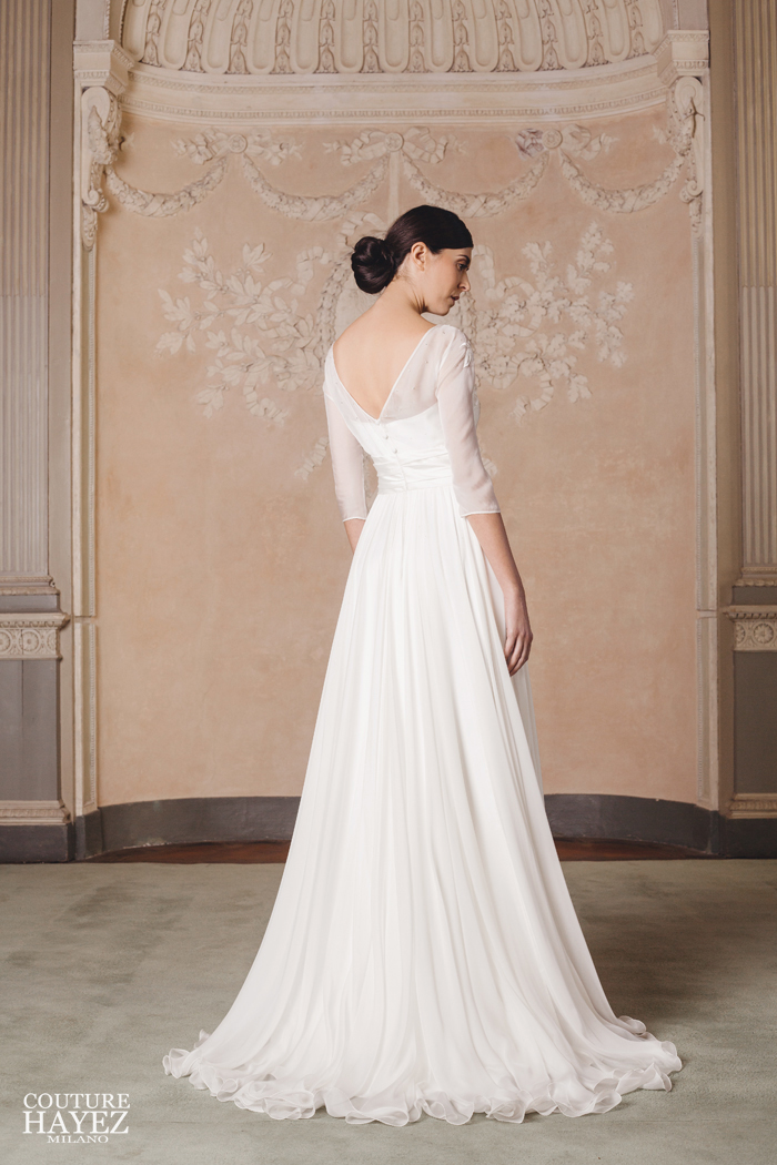 silk wedding gown grace kelly high society inspired