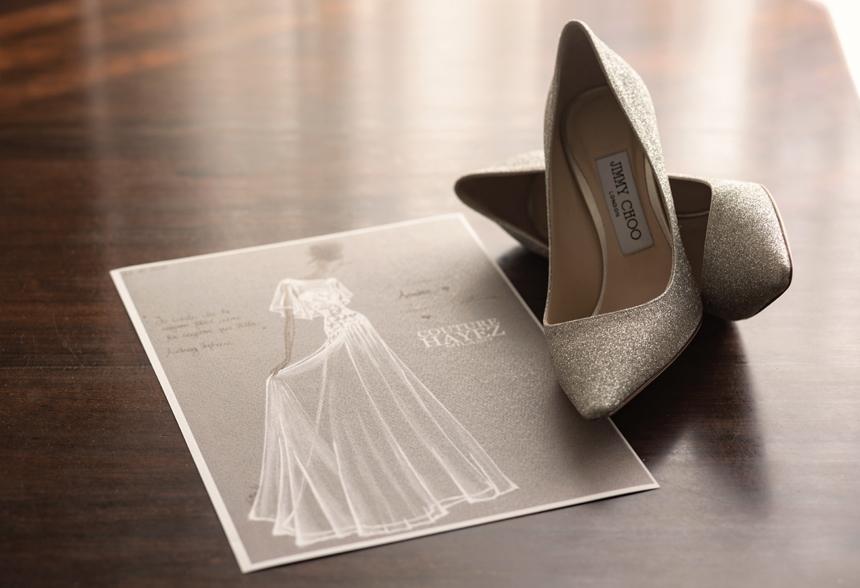figurino abito sposa personalizzato couture hayez