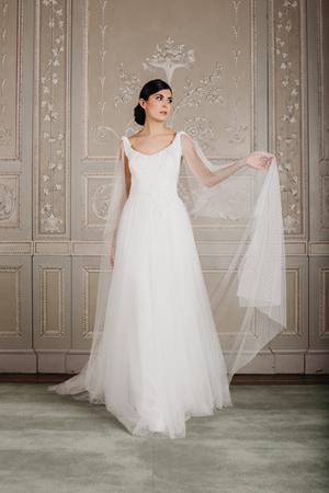 abito da sposa in tulle, abito sposa tulle plumetis, abito sposa con spalline