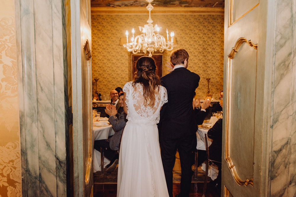 matrimonio elegante boho chic, ricevimento sposi