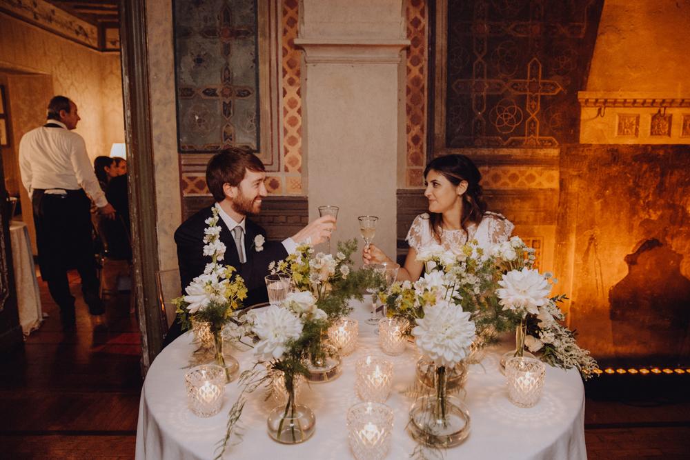 tavolo degli sposi alternativo, tavolo sposi boho