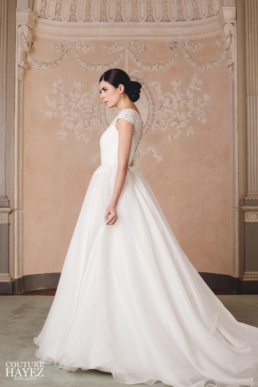 abito sposa organza e pizzo , abito sposa principessa, abito sposa organza seta, abito sposa con pizzo sulla schiena