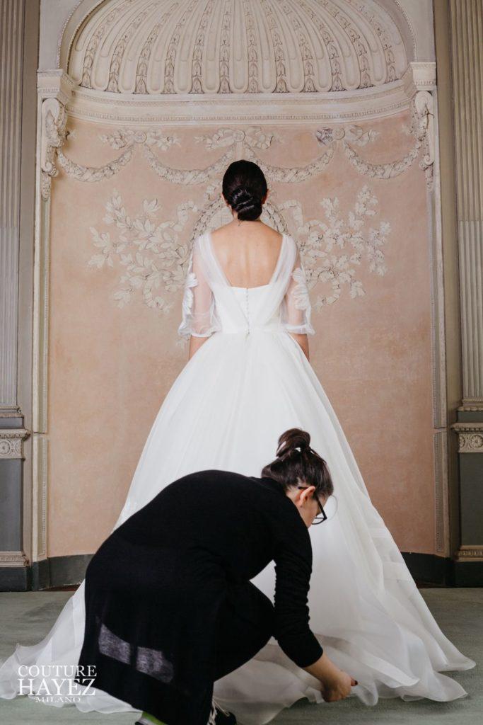 backstage shooting sposa