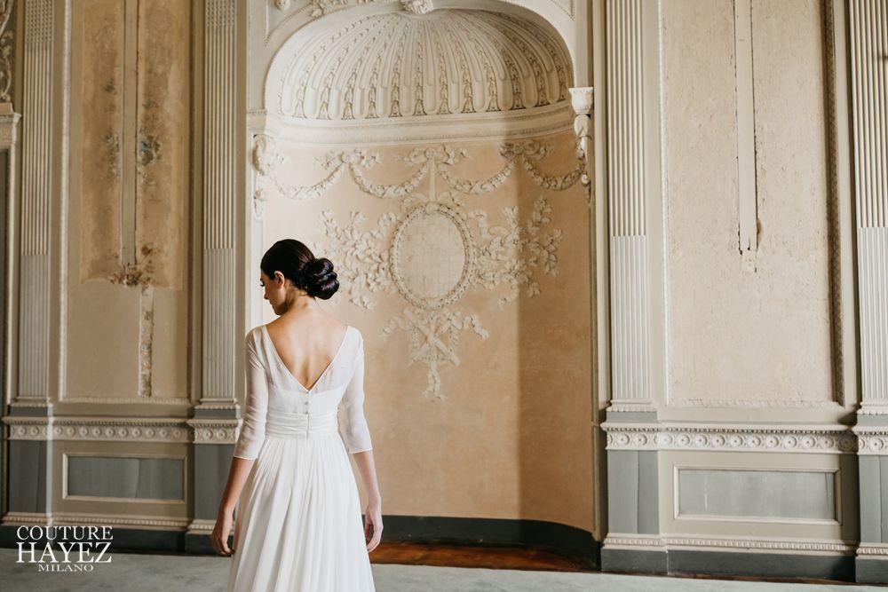 vestito da sposa leggero, abito sposa semplice