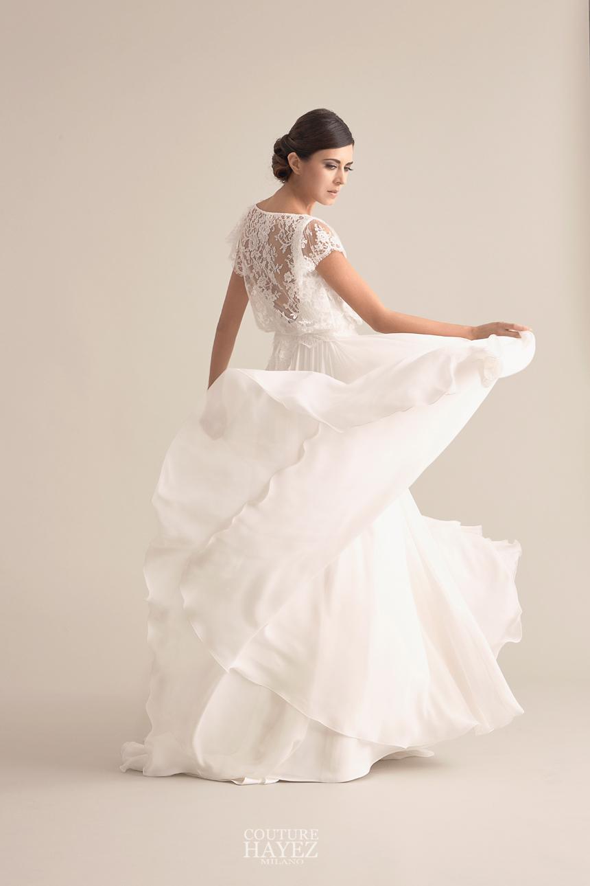 abiti da sposa milano, abiti da sposa georgette seta e pizzo, più alta e più snella con il tuo abito da sposa