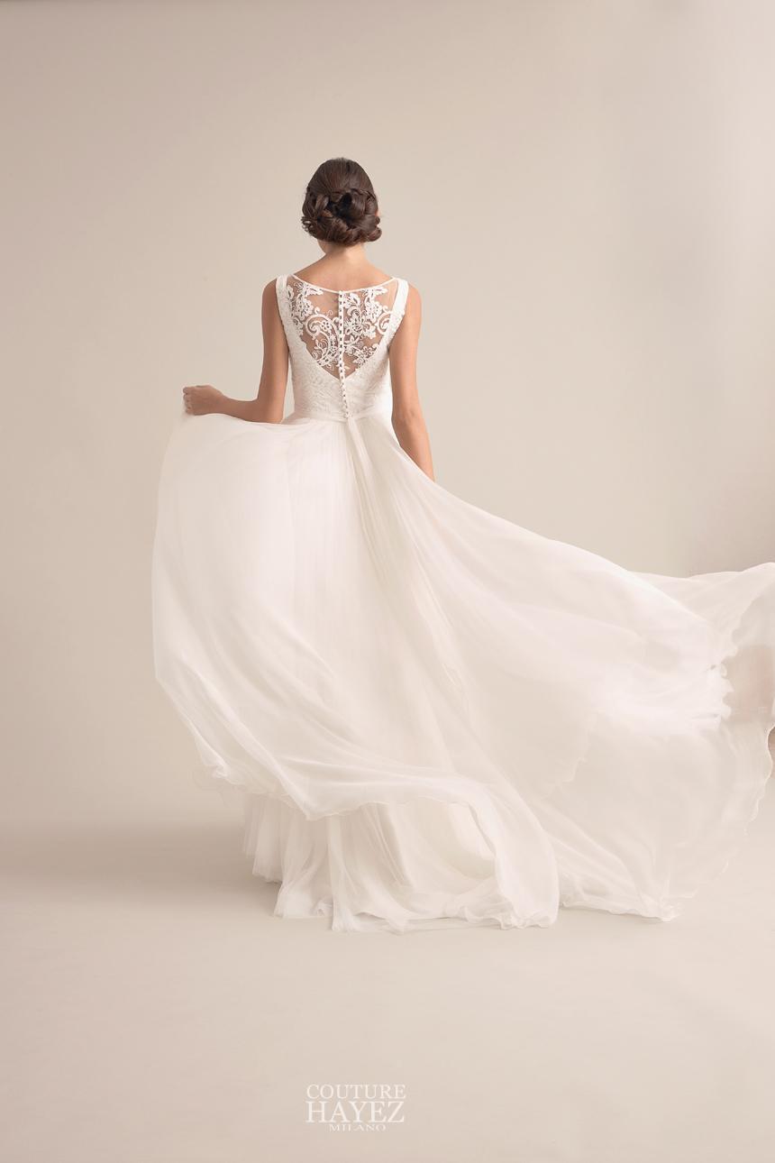 abito da sposa con movimento nella gonna, abiti da sposa che slanciano la figura, più alta e più snella con il tuo abito da sposa