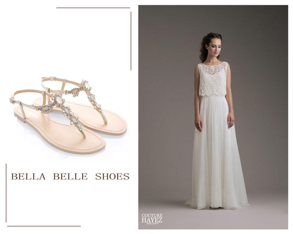 infradito gioiello sposa, abito sposa con crop top Kendall couture hayez, sposa millenial