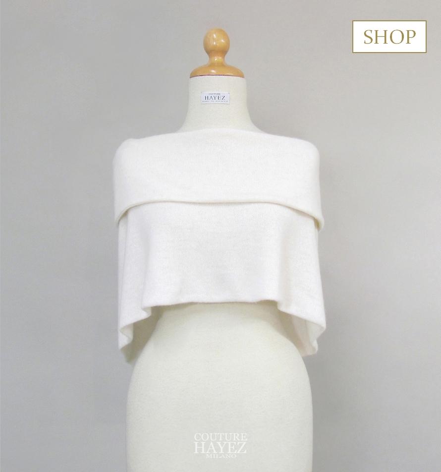 sposa shop on line, cappa in maglia sposa, aquisti sposa on line, accessori sposa made in italy on line
