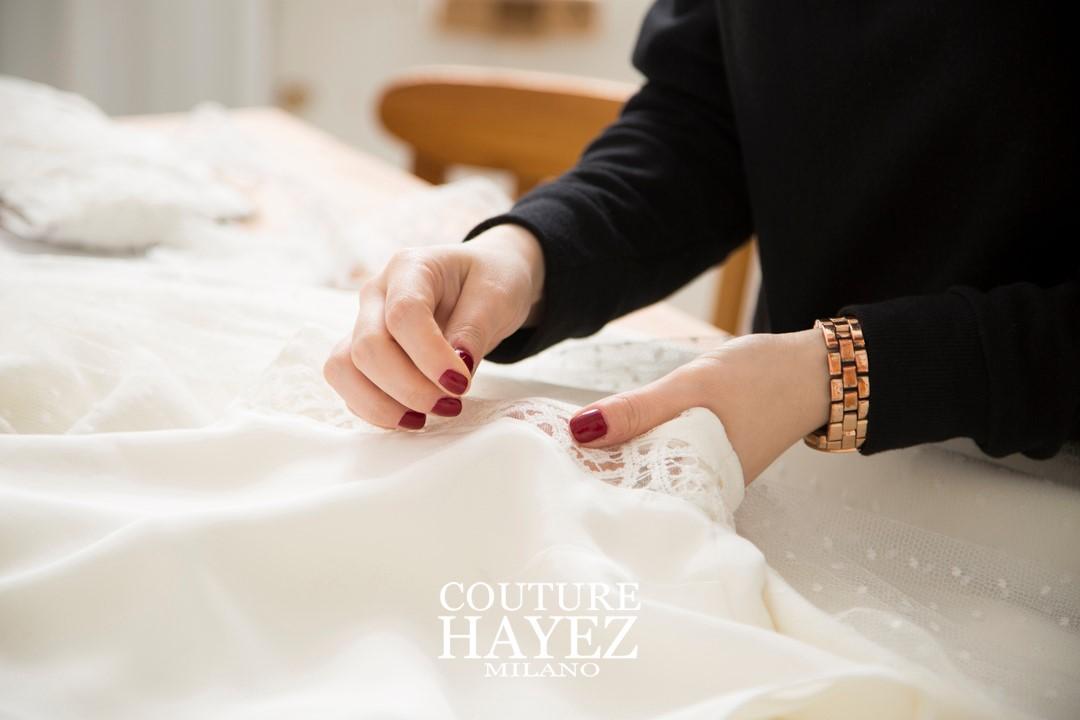 abiti da sposa made in italy, couture hayez, abiti da sposa fatti in italia, atelier sposa milano, sartorie sposa milano, su misura sposa milano