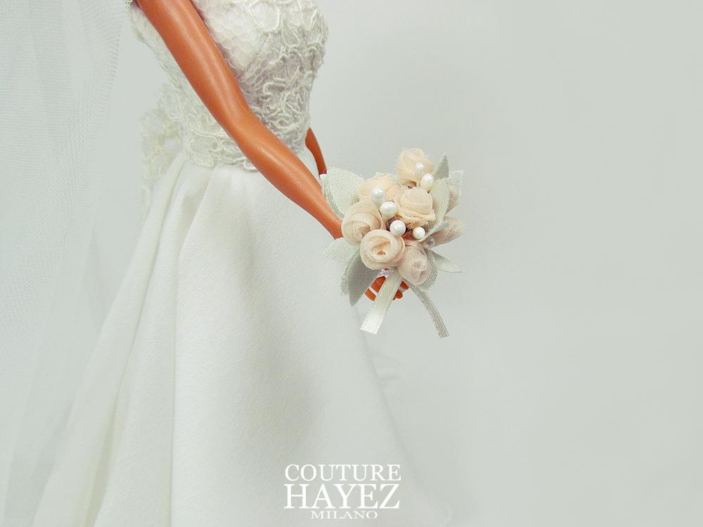 il bouquet sposa per barbie,micro bouquet per bamboline sposa