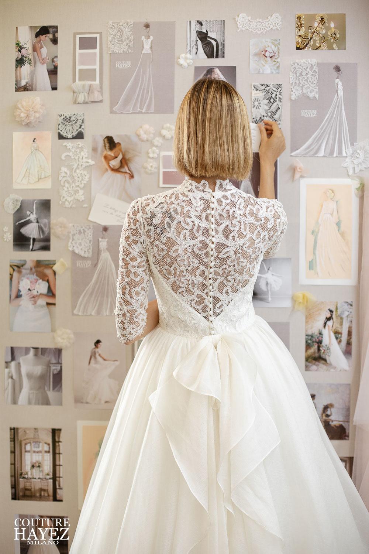 abito da sposa con schiena in pizzo, abito da sposa artigianale, abito da sposa 2021 couture