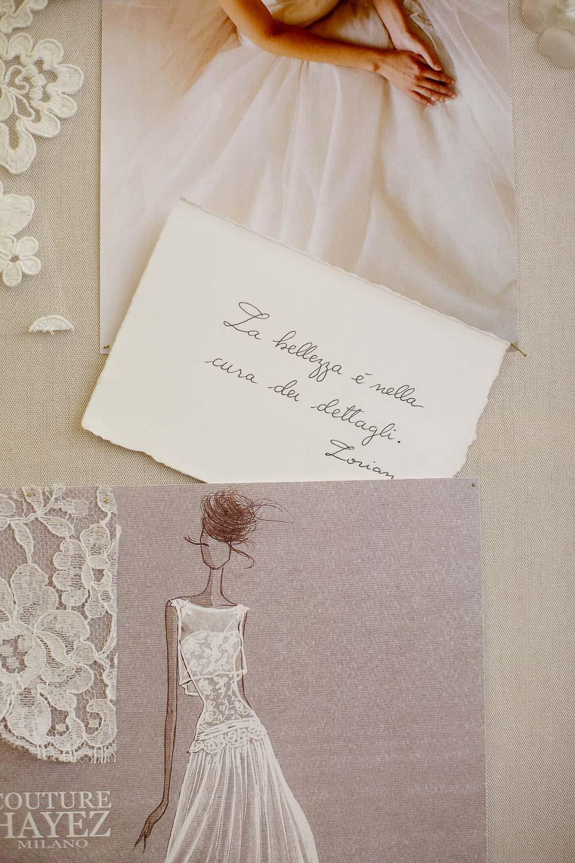 frasi scritte su carta, figurino sposa couture hayez