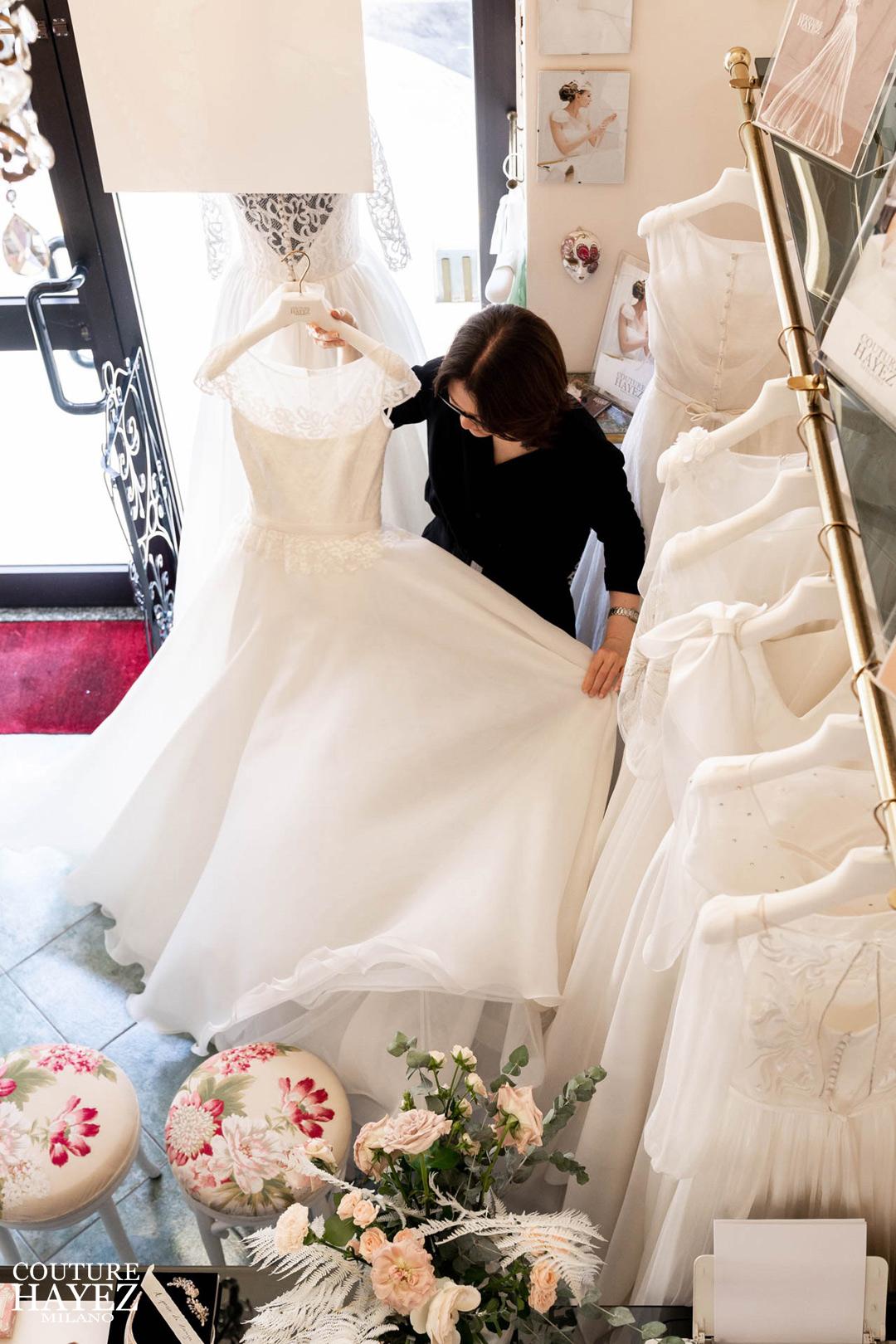 collezione abiti da sposa couture hayez milano, piccolo atelier sposa a milano