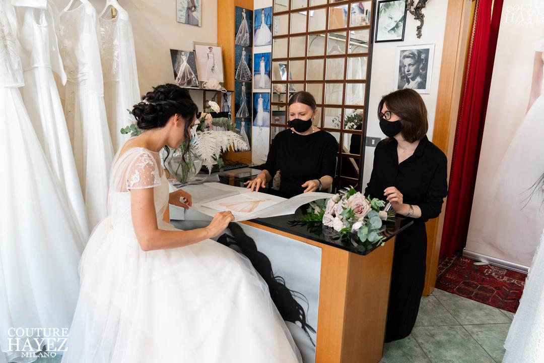 consegna figurino abito da sposa