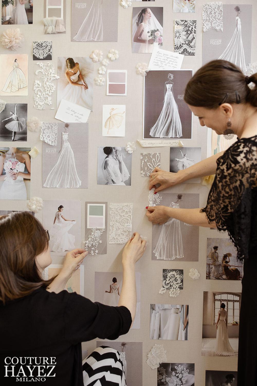Loriana e Christine stiliste di Couture Hayez