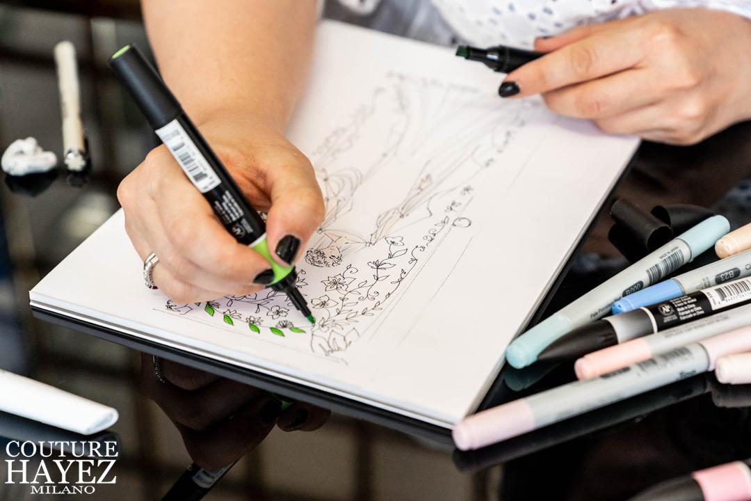illustratrice per matrimoni e fashion