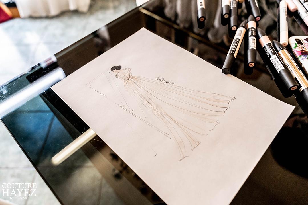 illustrazione ispirazione sposa eleonora casa bignami