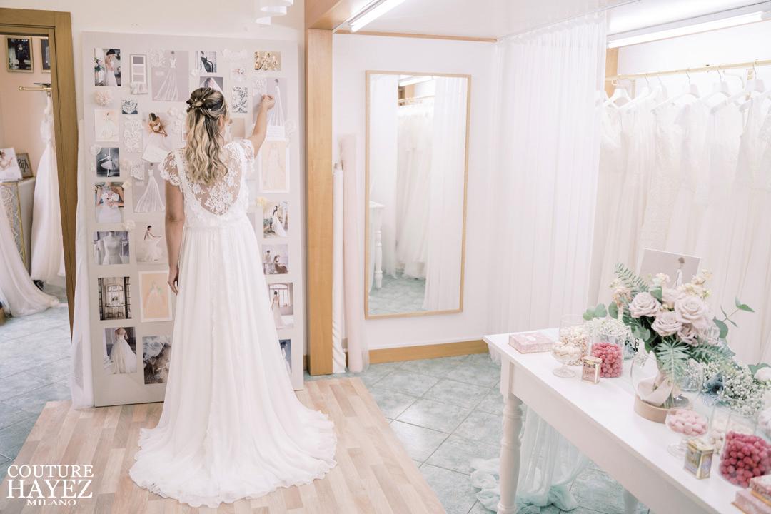 ultima prova abito da sposa in Atelier unica ed indimenticabile, l'esperienza di Francesca e la sua ultima prova abito in Atelier