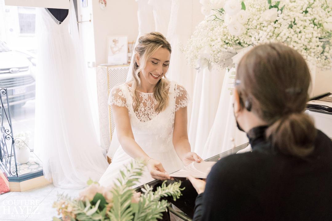 Atelier di abiti da sposa sartoriali e originali in seta made in italy