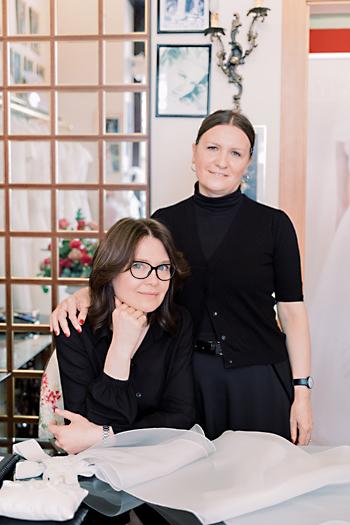 Stiliste sposa milano, bridal designer milano, Loriana e Christine, sarte e designers couture hayez , couture hayez